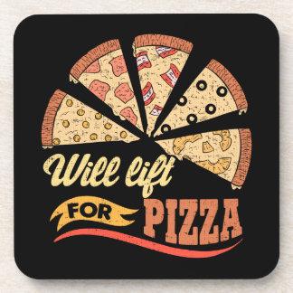 Porta-copo Levantará para a pizza - exercício engraçado da