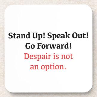 Porta-copo Levante-se, fale-se para fora, desespero não é uma