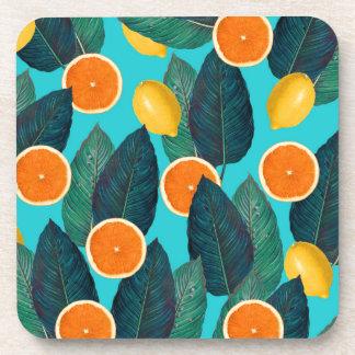 Porta-copo limões e cerceta das laranjas