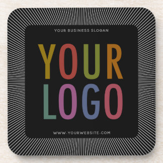 Porta-copo Logotipo de Quadrado Preto Costume Plástico Portas