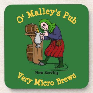 Porta-copo Logotipo Home personalizado do bar do cervejeiro