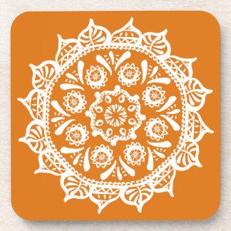 Porta-copo Mandala do tarte de abóbora