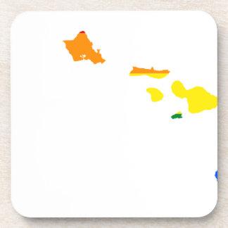 Porta-copo Mapa da bandeira de Havaí LGBT