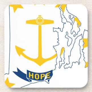 Porta-copo Mapa de Rhode - ilha da bandeira
