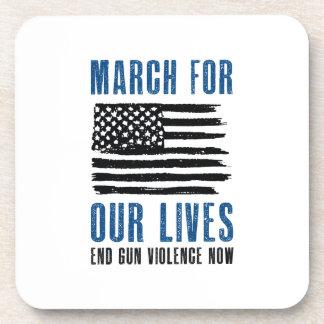 Porta-copo Março por nossas vidas