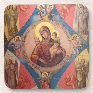 Porta-copo Mary, Jesus, e anjos