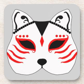 Porta-copo Máscara japonesa do gato