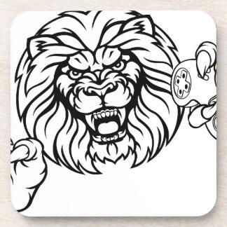 Porta-copo Mascote irritada de Esports do leão