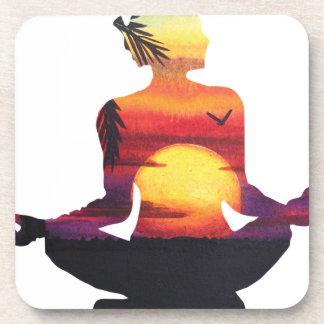 Porta-copo Meditação da ioga