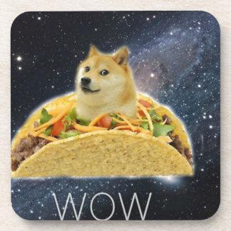 Porta-copo meme do taco do espaço do doge