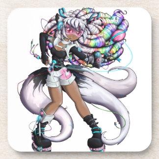 Porta-copo Menina de Kitsune do Cyber