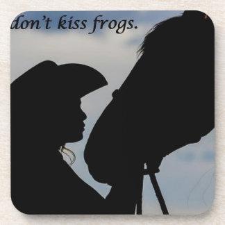 Porta-copo Menina que beija o cavalo