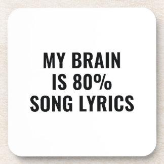 Porta-copo Meu cérebro é poemas líricos de uma canção de 80