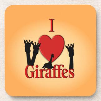 Porta-copo Mim girafas do coração