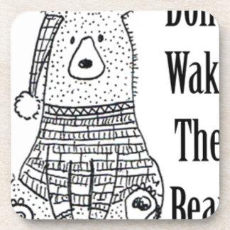 Porta-copo Não acorde o urso