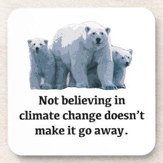 Porta-copo Não acreditando nas alterações climáticas