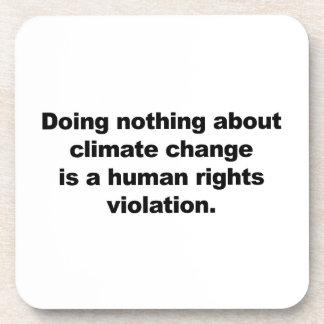 Porta-copo Não fazendo nada sobre alterações climáticas