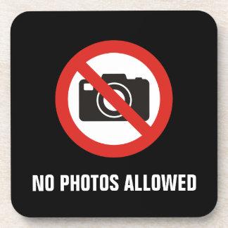 Porta-copo Nenhumas fotos permitidas