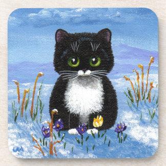 Porta-copo Neve preta engraçada Creationarts do inverno do