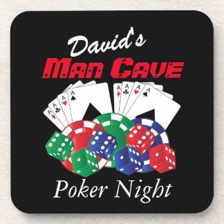 Porta-copo Noite do póquer na caverna do homem