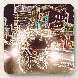 Porta-copo Noite do rickshaw de Tokyo