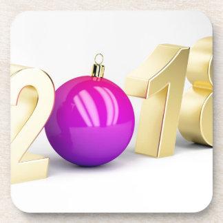 Porta-copo Número 2018 com bola do Natal