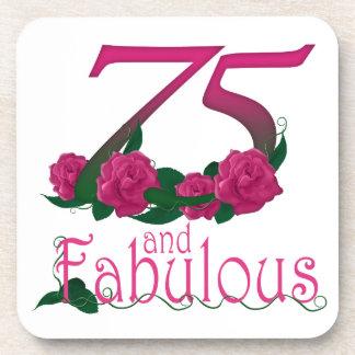 Porta-copo número floral cor-de-rosa fabuloso da idade do