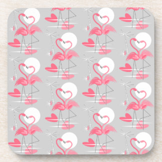 Porta-copo O amor do flamingo telhou a parte traseira da