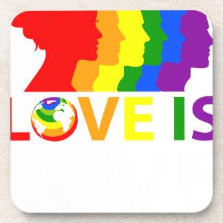 Porta-copo O amor é amor