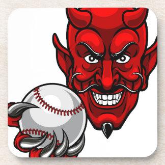 Porta-copo O basebol do diabo ostenta a mascote