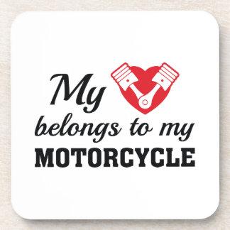 Porta-copo O coração pertence motocicleta