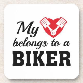 Porta-copo O coração pertence motociclista