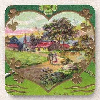 Porta-copo O dia retro de St Patrick do irlandês do vintage