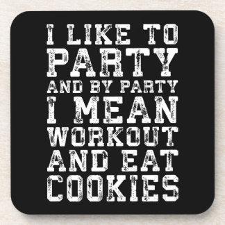 Porta-copo O exercício e come os biscoitos (eu gosto de