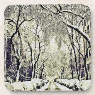 Porta-copo O inverno cobriu ruas