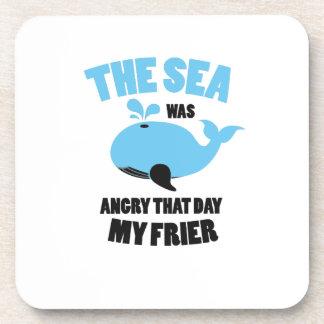 Porta-copo O mar estava irritado que dia meus amigos