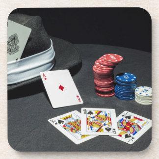 Porta-copo O póquer carda o chapéu do gângster