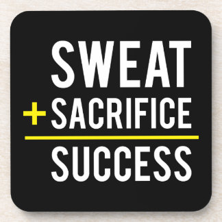 Porta-copo O suor mais o sacrifício iguala o sucesso -