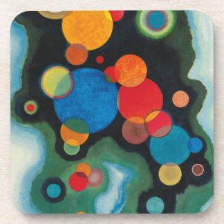 Porta-copo Óleo aprofundado do abstrato do impulso em canvas