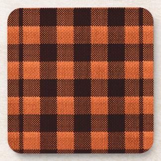 Porta-copo Olhar Checkered de serapilheira do teste padrão do