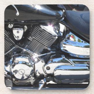 Porta-copo Opinião lateral cromada motocicleta do detalhe do