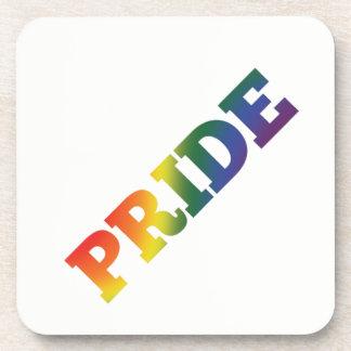Porta-copo Orgulho gay do arco-íris no branco