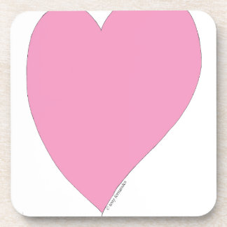 Porta-copo os corações cor-de-rosa