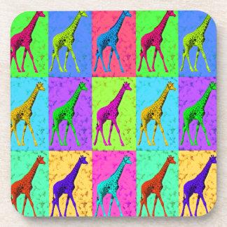 Porta-copo Painéis de passeio do girafa do pop art