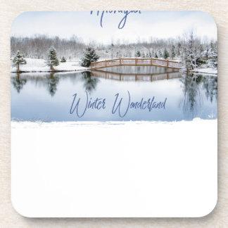 Porta-copo País das maravilhas do inverno