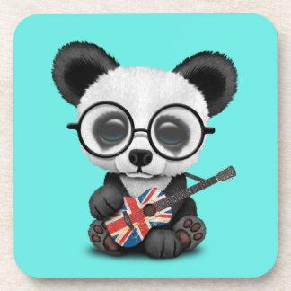 Porta-copo Panda do bebê que joga a guitarra britânica da
