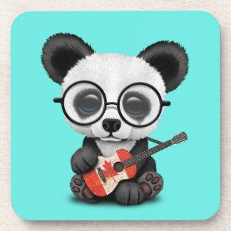 Porta-copo Panda do bebê que joga a guitarra canadense da