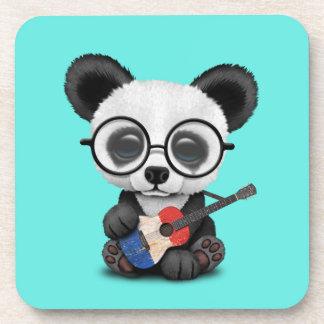 Porta-copo Panda do bebê que joga a guitarra francesa da