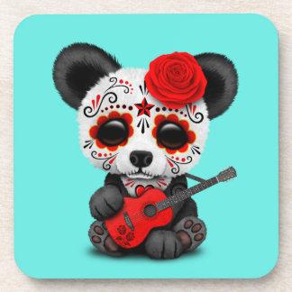 Porta-copo Panda vermelha do crânio do açúcar que joga a