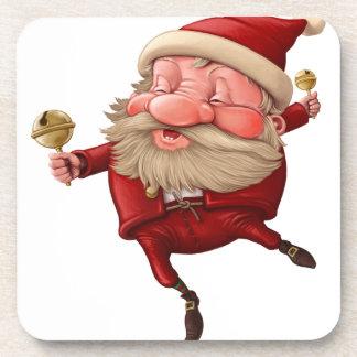 Porta-copo Papai Noel e a dança do sino
